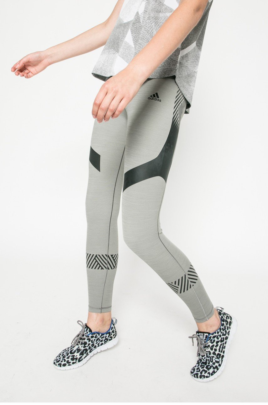 adidas Performance - Legginsy Ultimate Tights Core Heather