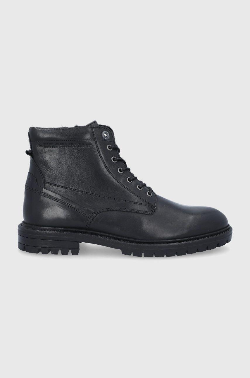 Pepe Jeans – Buty skórzane Ned Boot Lth