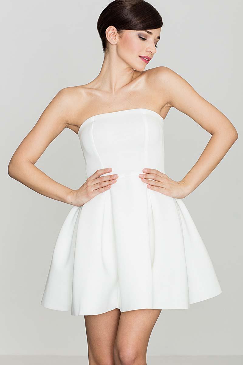 Sukienka Ecru Wieczorowa sukienka Gorsetowa