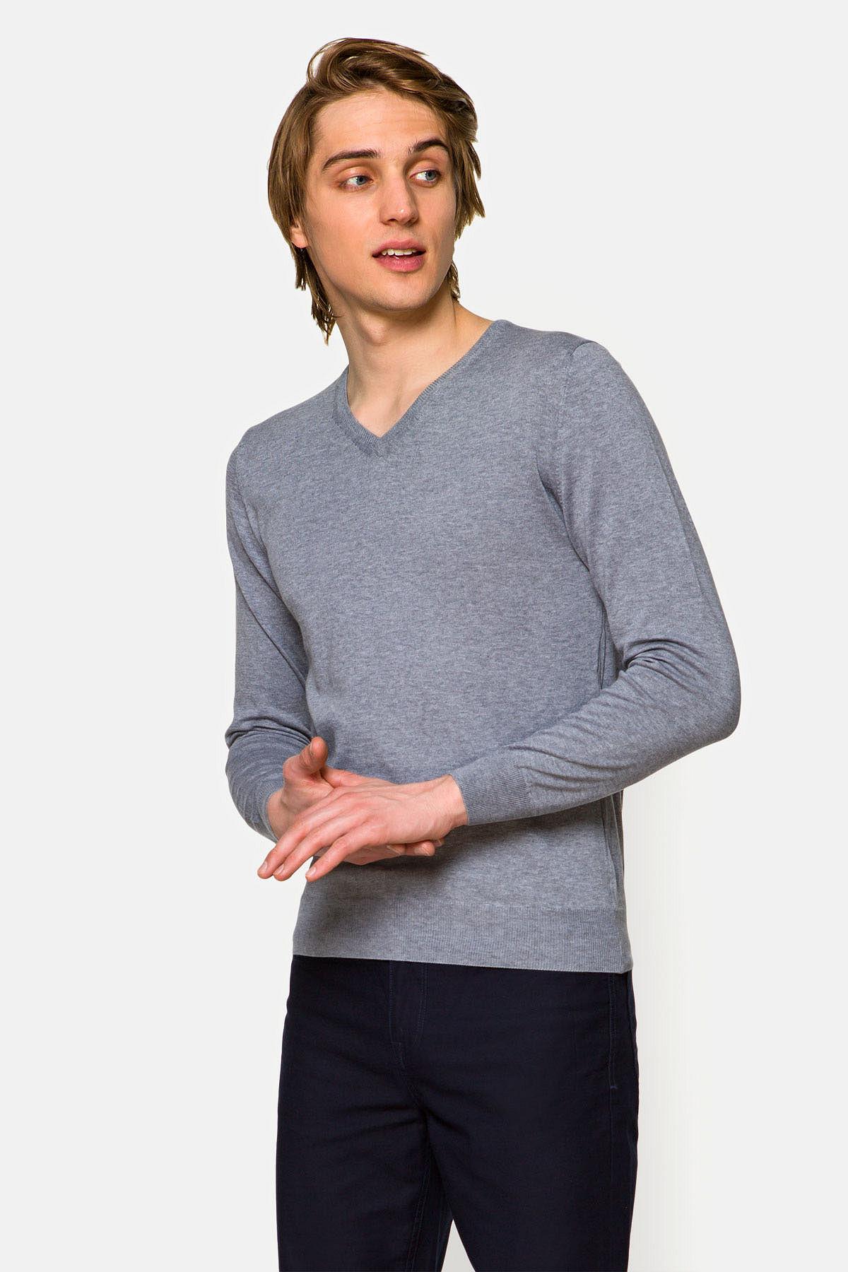Sweter Robin J.Szary rozmiar L; XL; 2XL