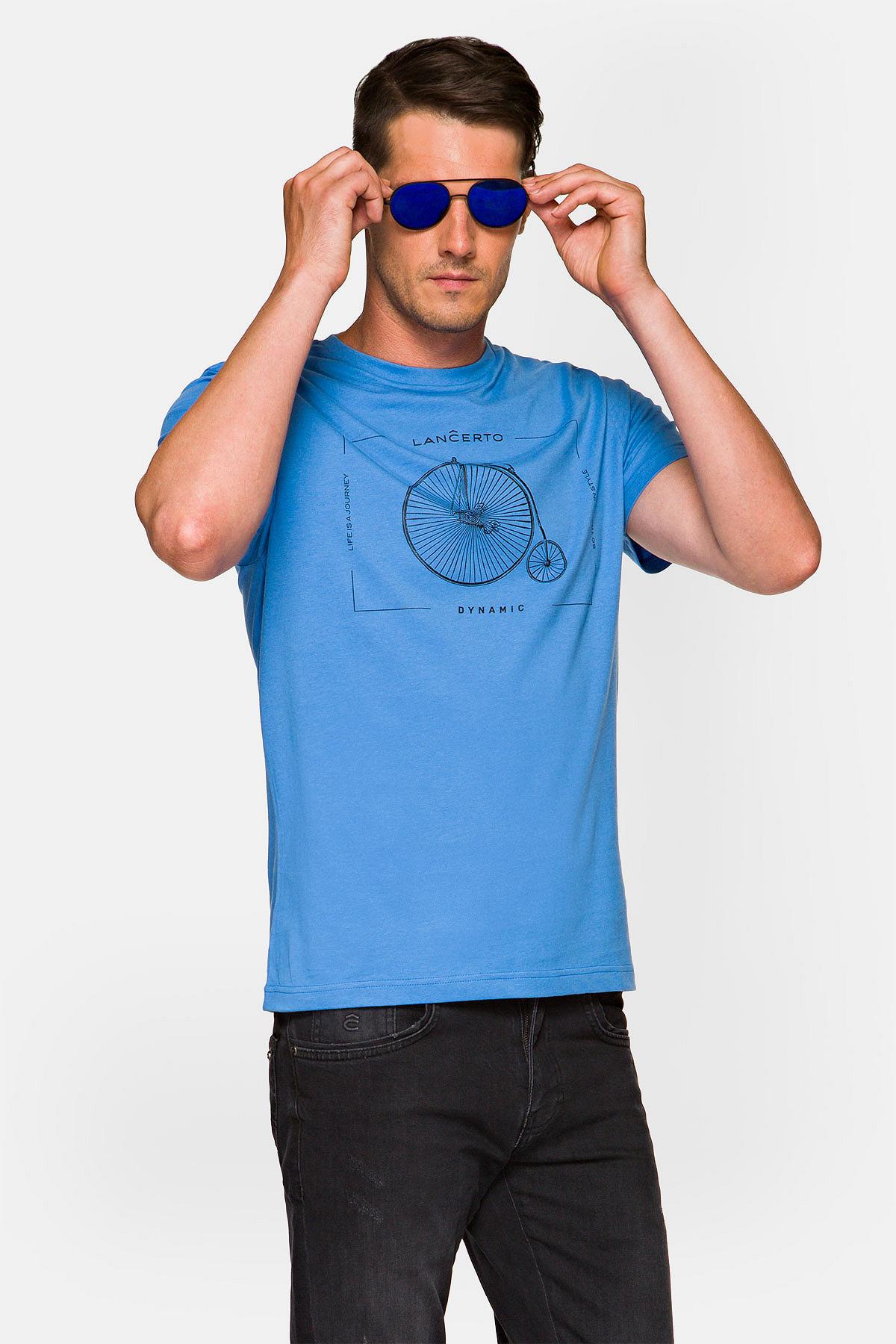 Koszulka Niebieska Leon rozmiar 2XL; 3XL; L; M; XL