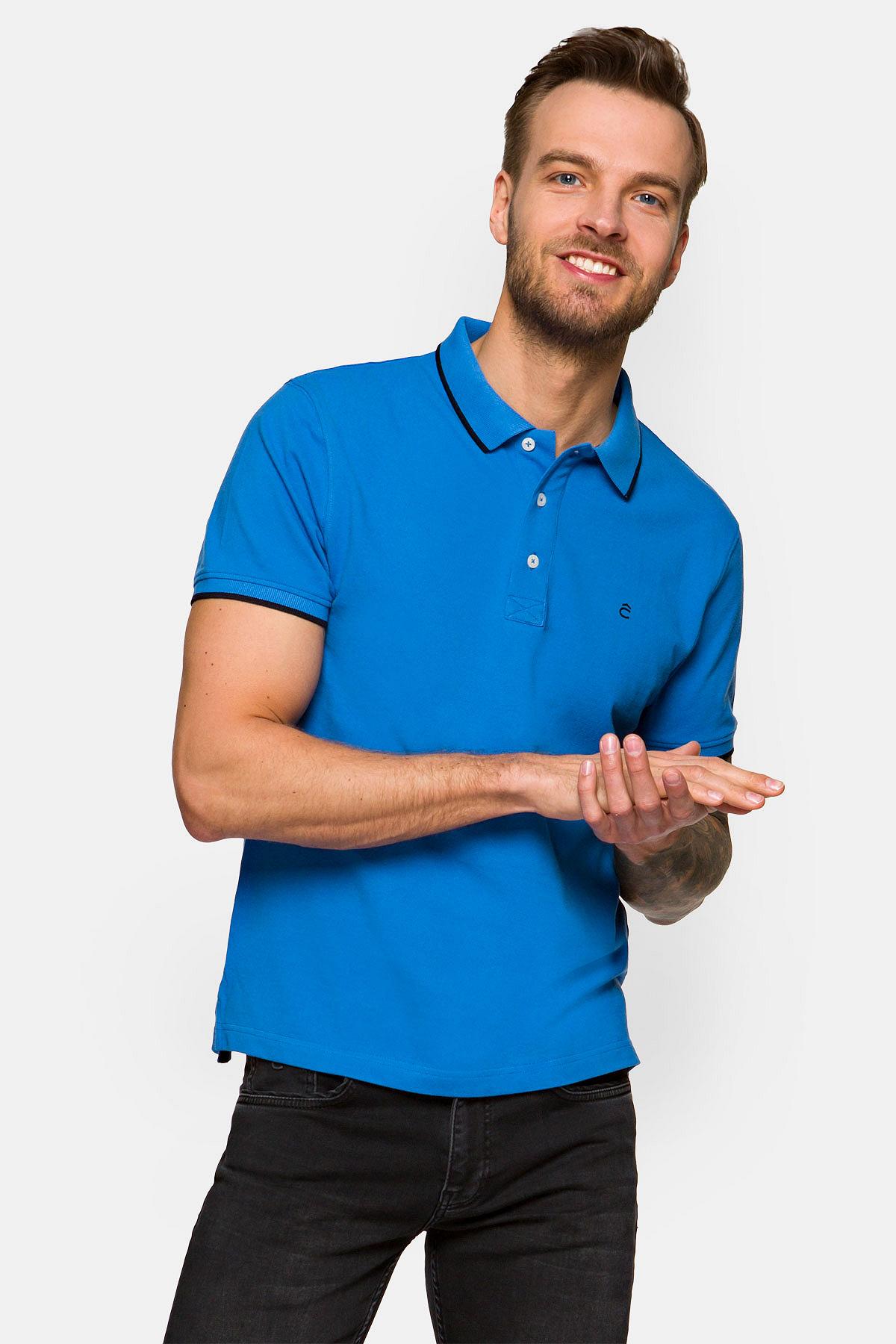 Koszulka Niebieska Polo Dominic rozmiar 2XL; 3XL; L; M; XL
