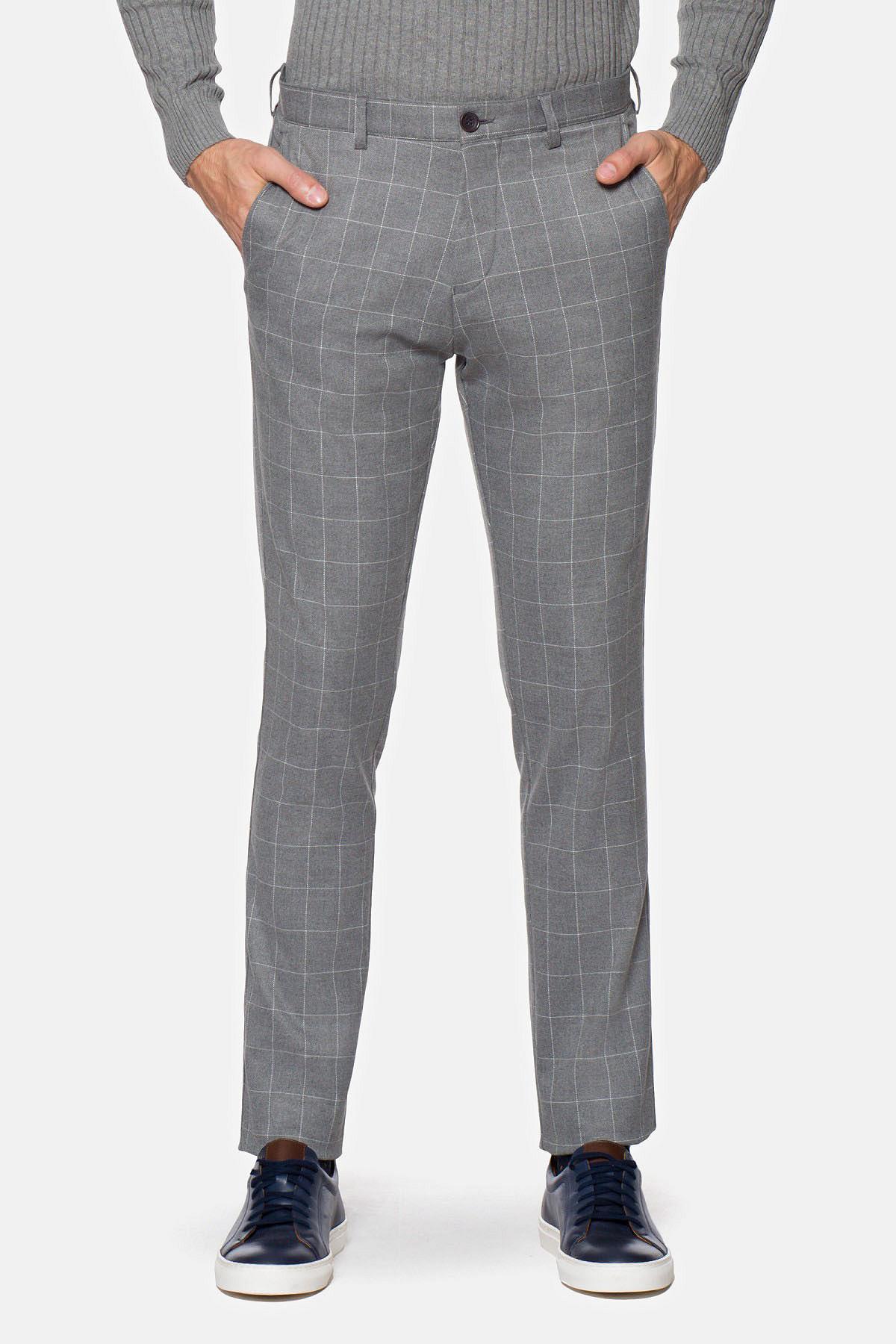 Spodnie Szare w Kratę Harvey rozmiar W33/L34; W35/L32; W36/L32; W38/L32; W38/L34