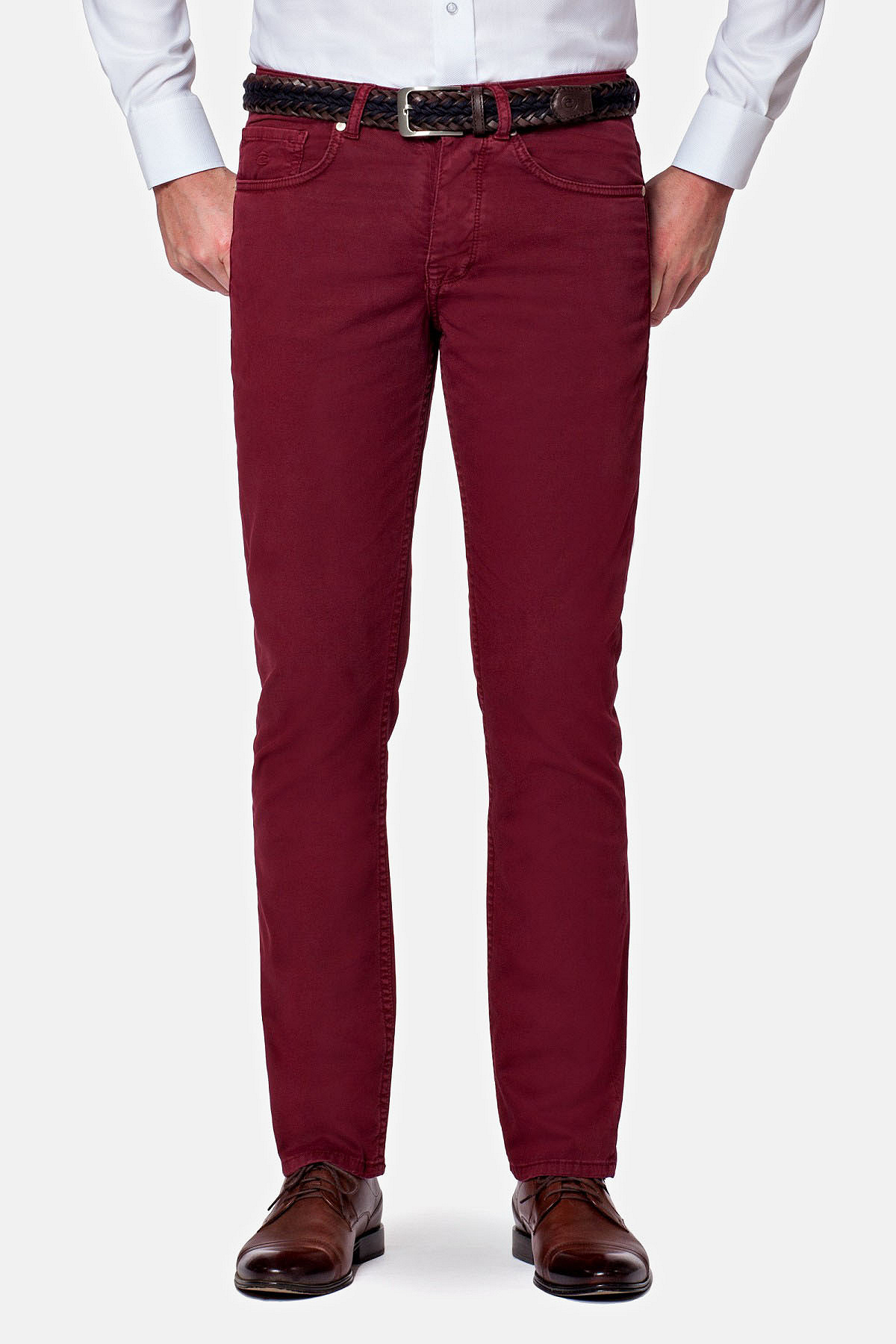 Spodnie Bordowe Femes rozmiar W31/L34; W32/L34; W33/L34; W35/L34