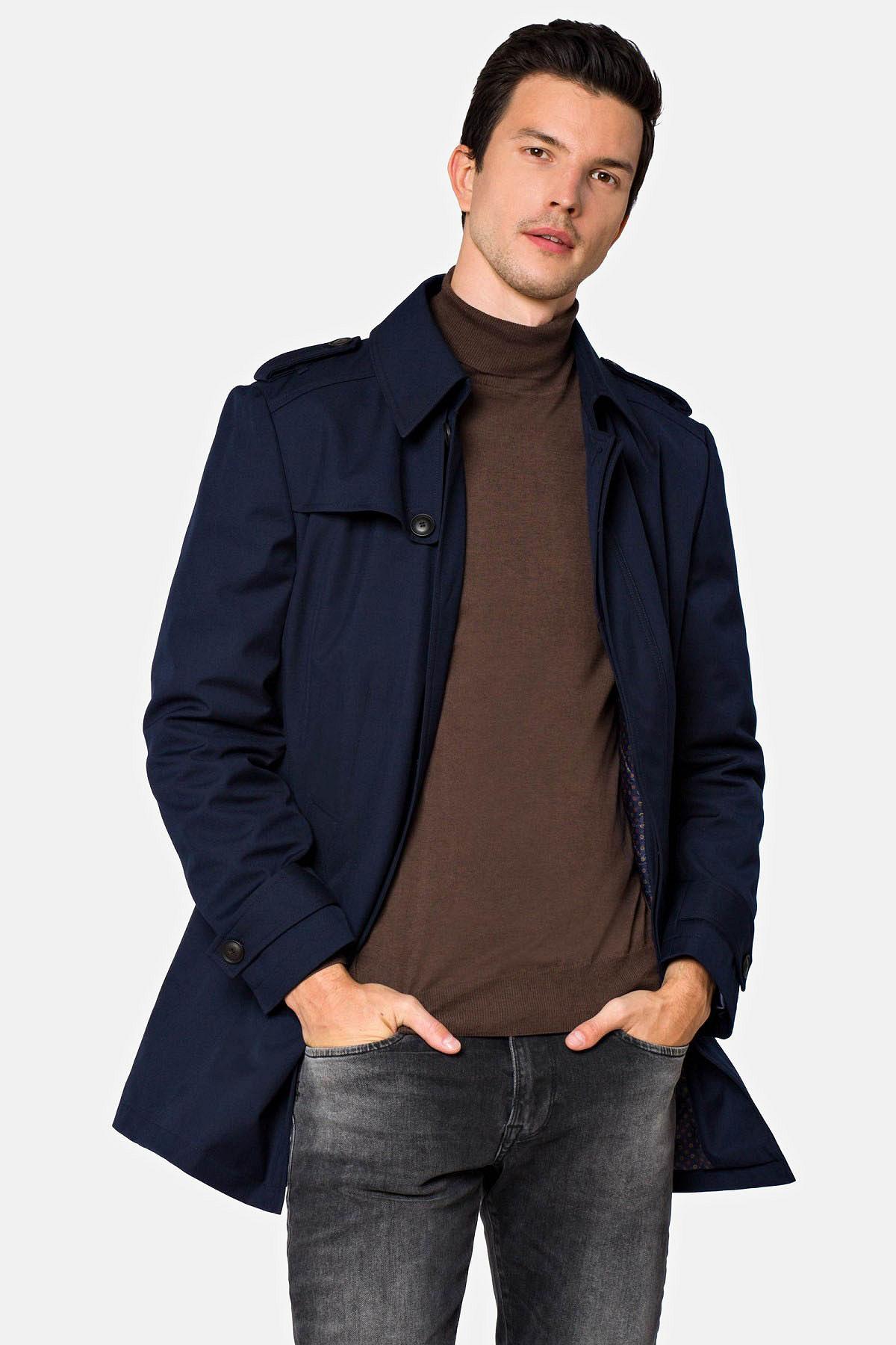 Płaszcz Granatowy Molson rozmiar 48; 50; 52; 54; 56; 58; 60