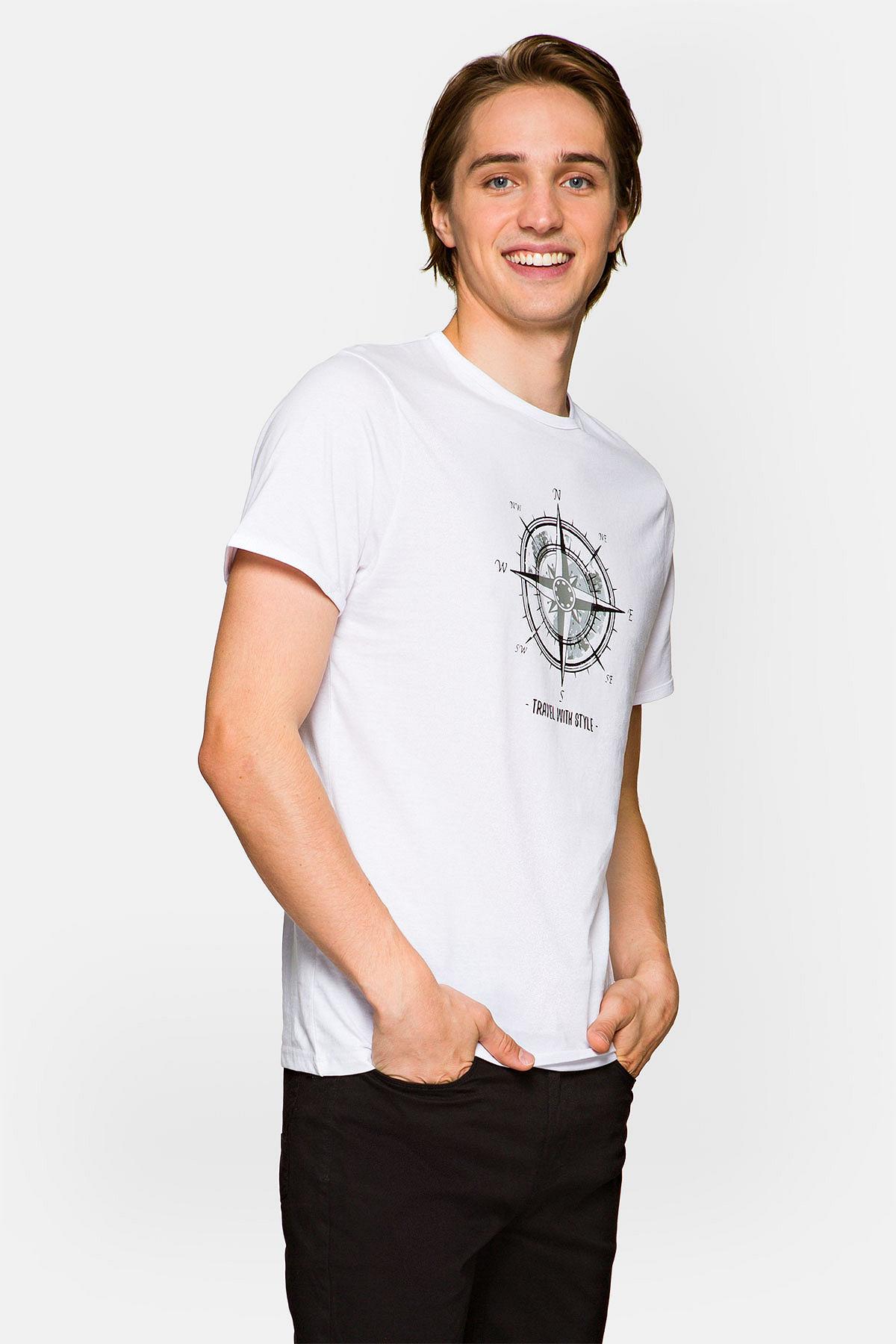 Koszulka Biała Elliott rozmiar 2XL; 3XL; 4XL; 5XL; L; M; XL