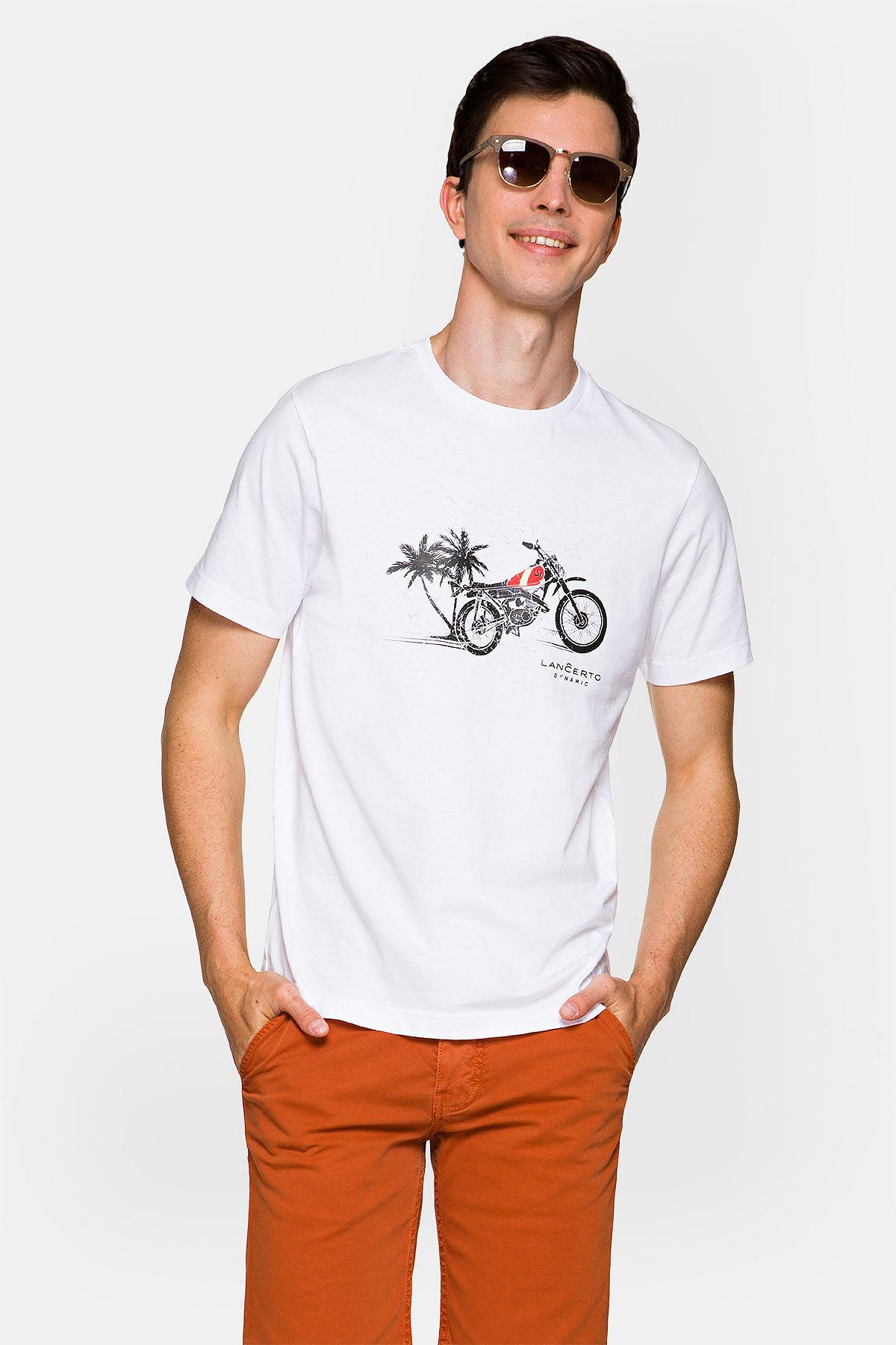 Koszulka Biała Albie rozmiar 2XL; 3XL; L; M; S; XL