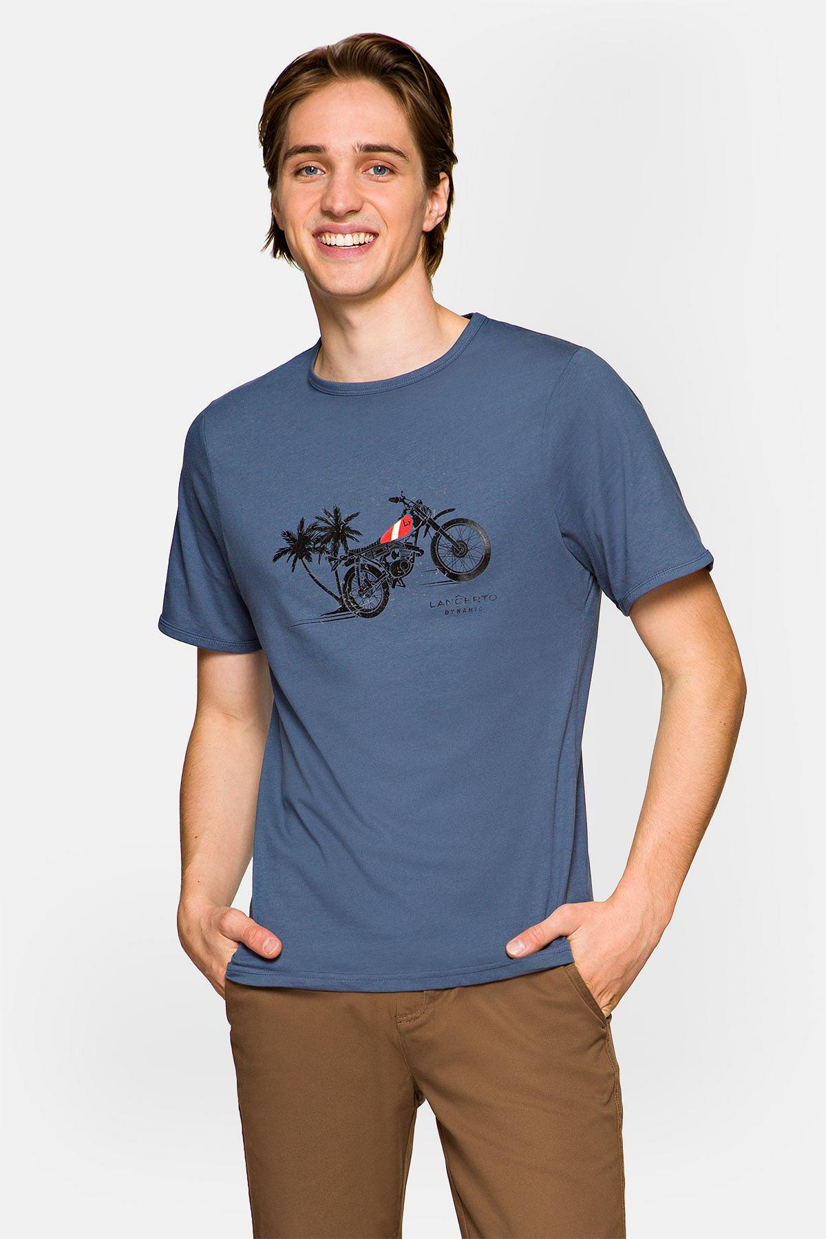 Koszulka Niebieska Albie rozmiar 2XL; 3XL; L; M; XL