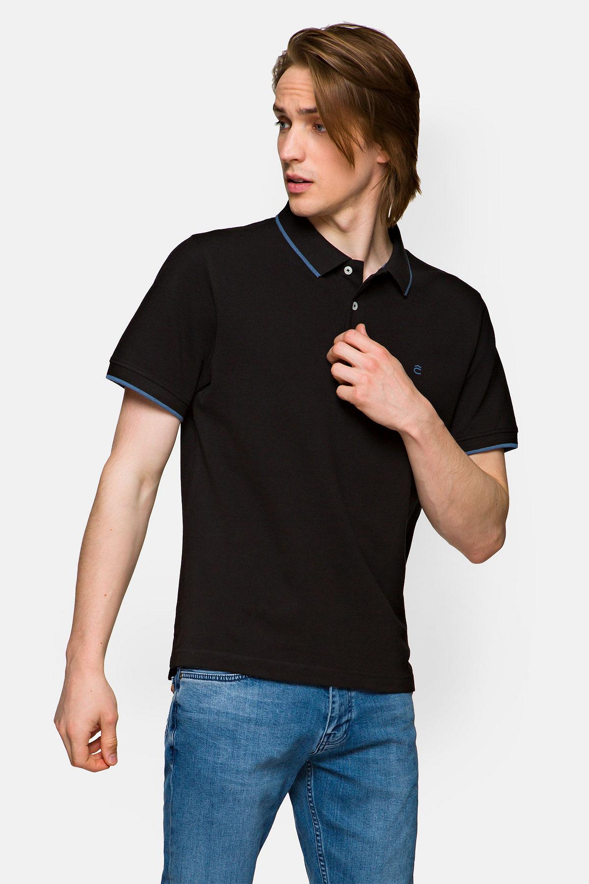 Koszulka Czarna Polo Dominic rozmiar 2XL; 3XL; 4XL; 5XL; L; M; S; XL