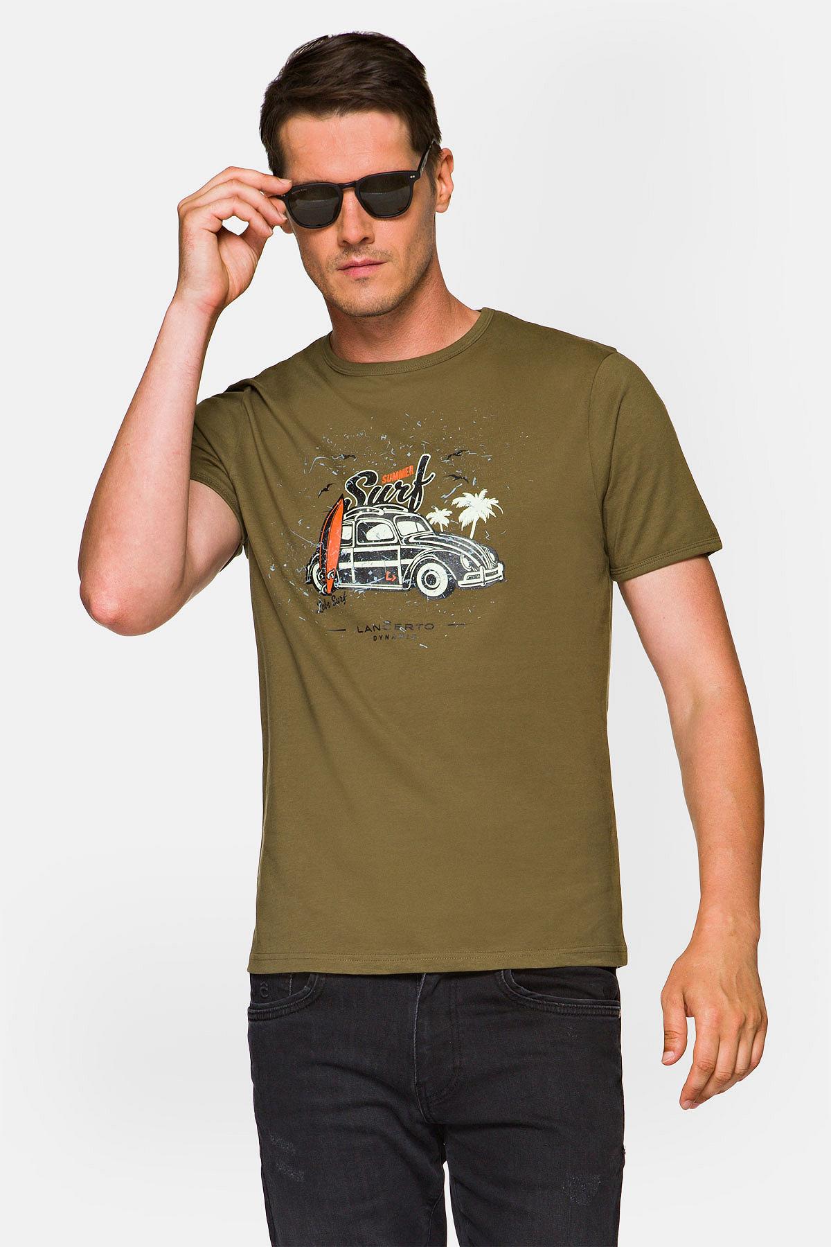 Koszulka Khaki Arlo rozmiar 2XL; 3XL; L; M; XL