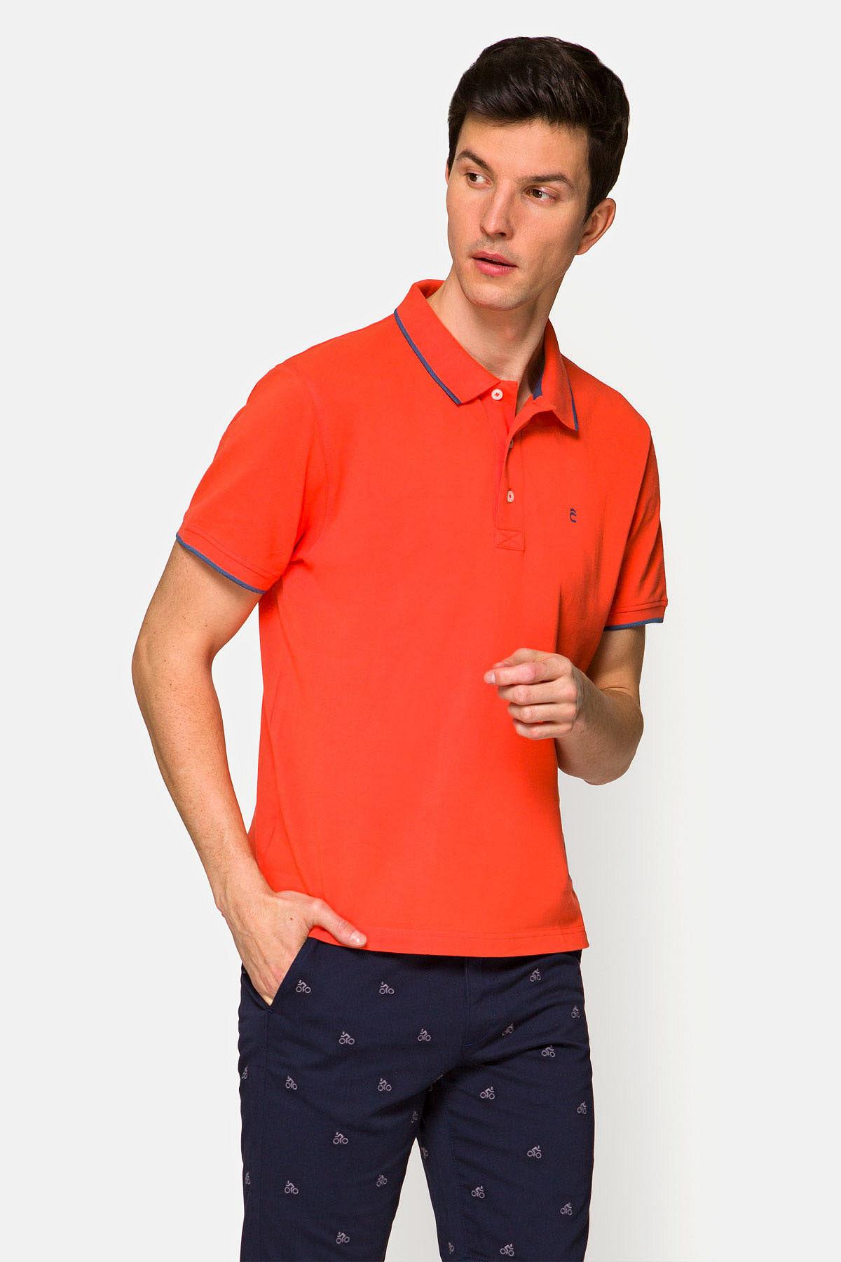 Koszulka Ciemno-łososiowa Polo Dominic rozmiar 2XL; L; M; XL