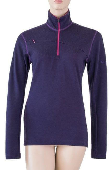 Sensor Merino Upper bluza damska Zip Purple XL