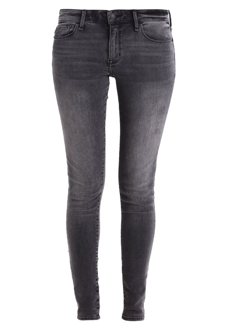 Abercrombie & Fitch CORE RISE Jeans Skinny Fit washed black - KI155-7237