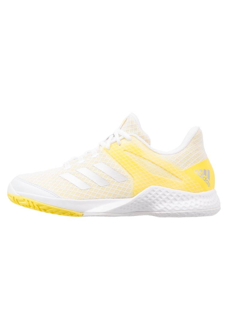 adidas Performance ADIZERO CLUB Buty multicourt footwear white/silver metallic/yellow - CDA33