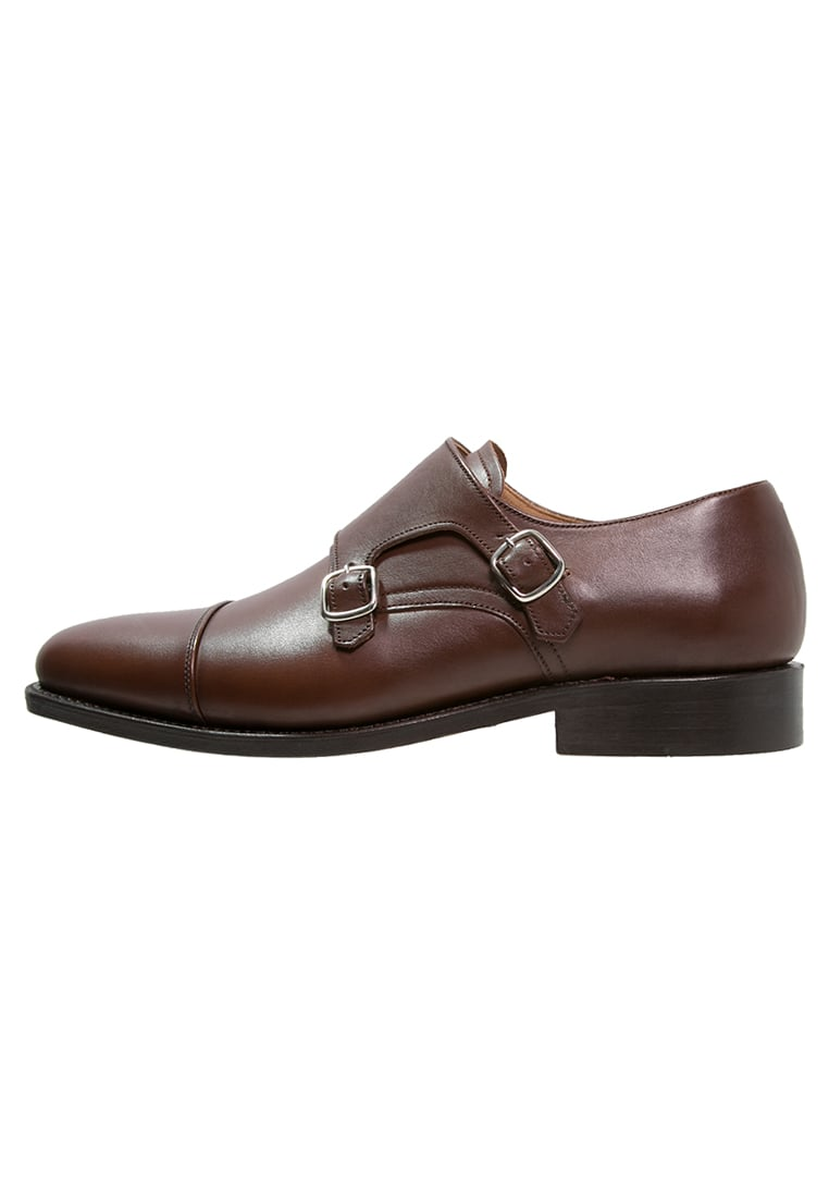Peralston Eleganckie buty brown - PE-DM-01 DOUBLE MONK Smooth Leather
