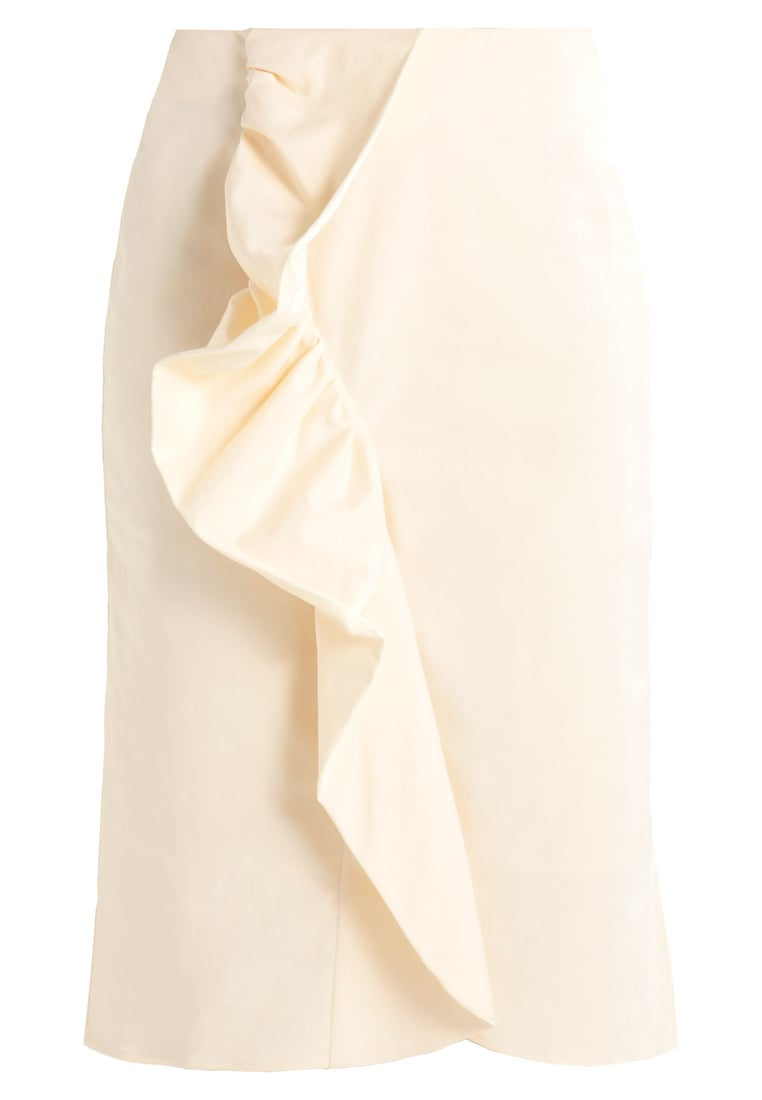 Finery HOWICK FRILL FRONT Spódnica trapezowa oyster - Howick Frill front skirt
