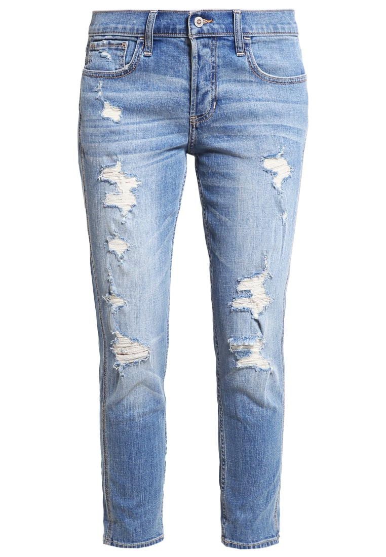Hollister Co. Jeansy Relaxed fit destroyed denim - KI355-6130