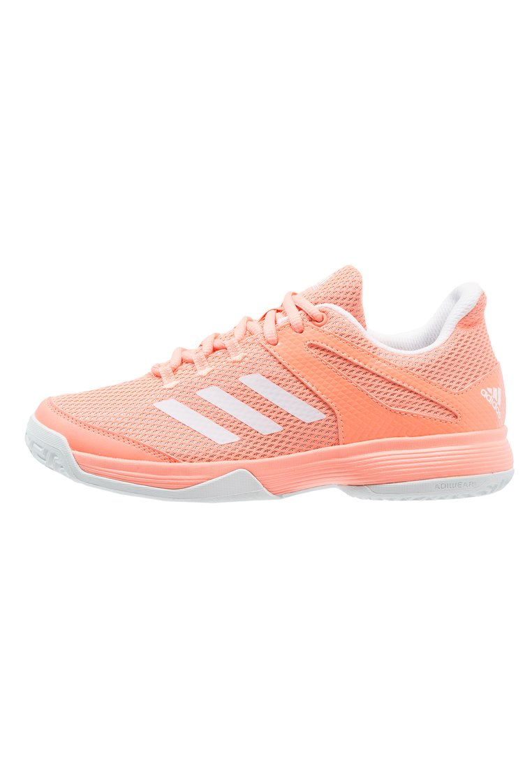 adidas Performance ADIZERO CLUB Buty multicourt chalk coral/footwear white/blue tint - EFX78