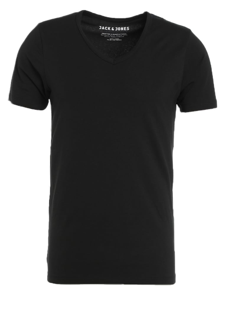 Jack & Jones BASIC VNECK Tshirt basic black - 12059219