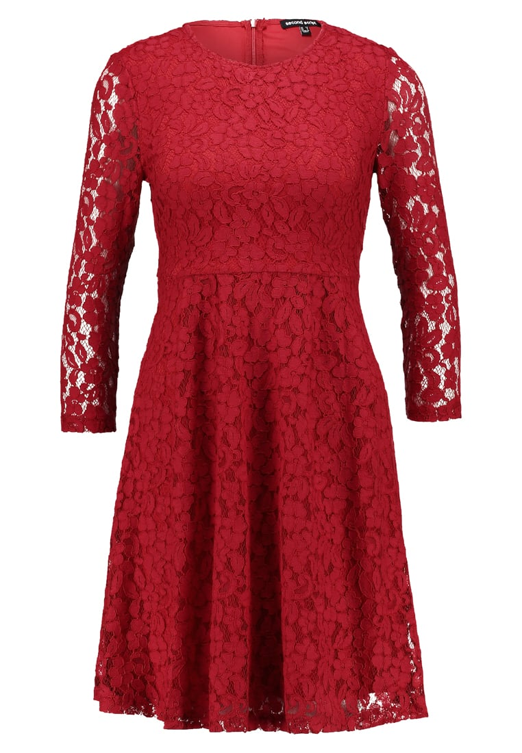 Second Script Petite LALA DRESS Sukienka koktajlowa red - SSAW17101