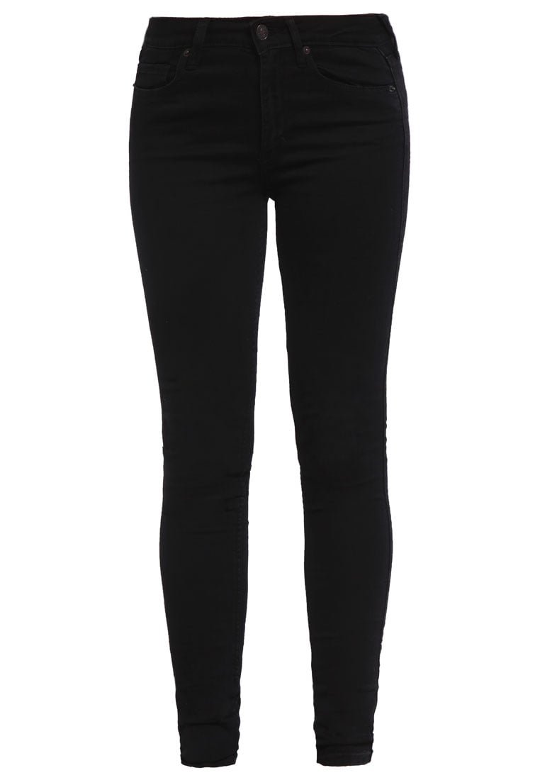 Abercrombie & Fitch BLACK SUPER SKINNY Jeans Skinny Fit black - KI155-5017