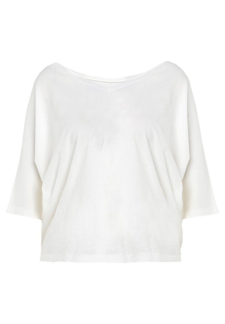 7 for all mankind CROPPED Tshirt basic white - JS5L9230