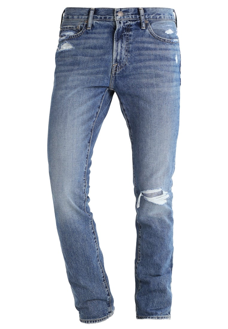 Abercrombie & Fitch Jeansy Slim fit destroyed denim - KI131-6175