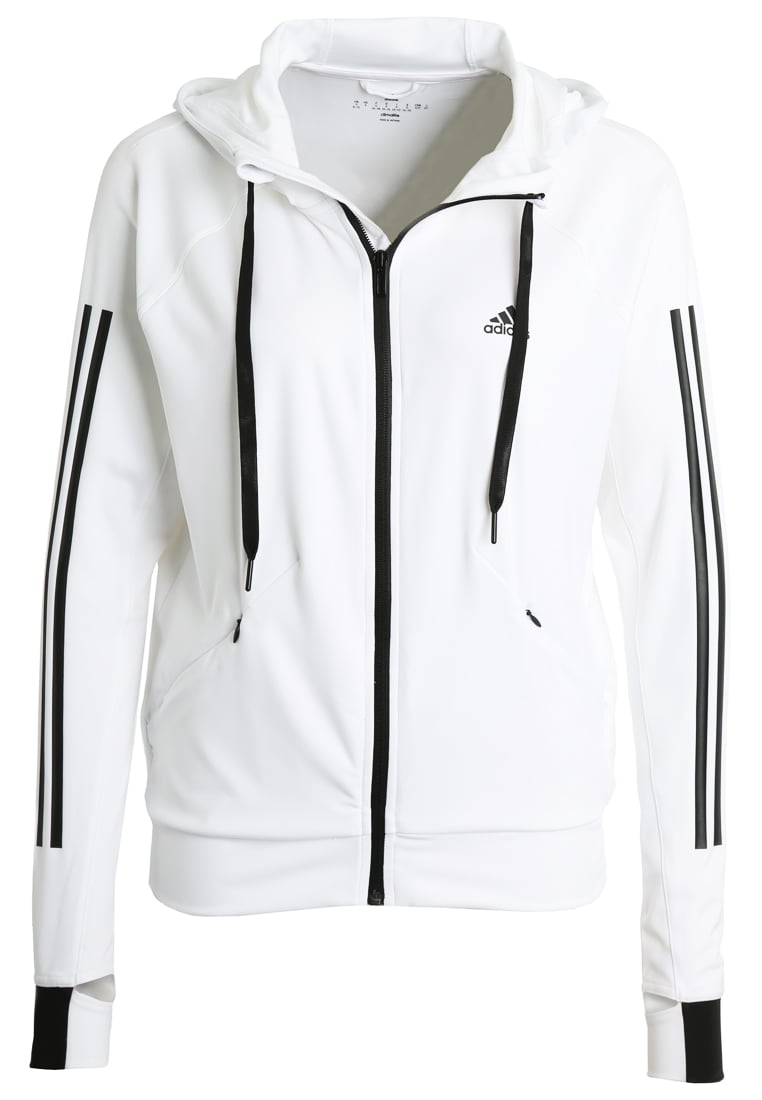 adidas Performance Bluza rozpinana white - BUZ15