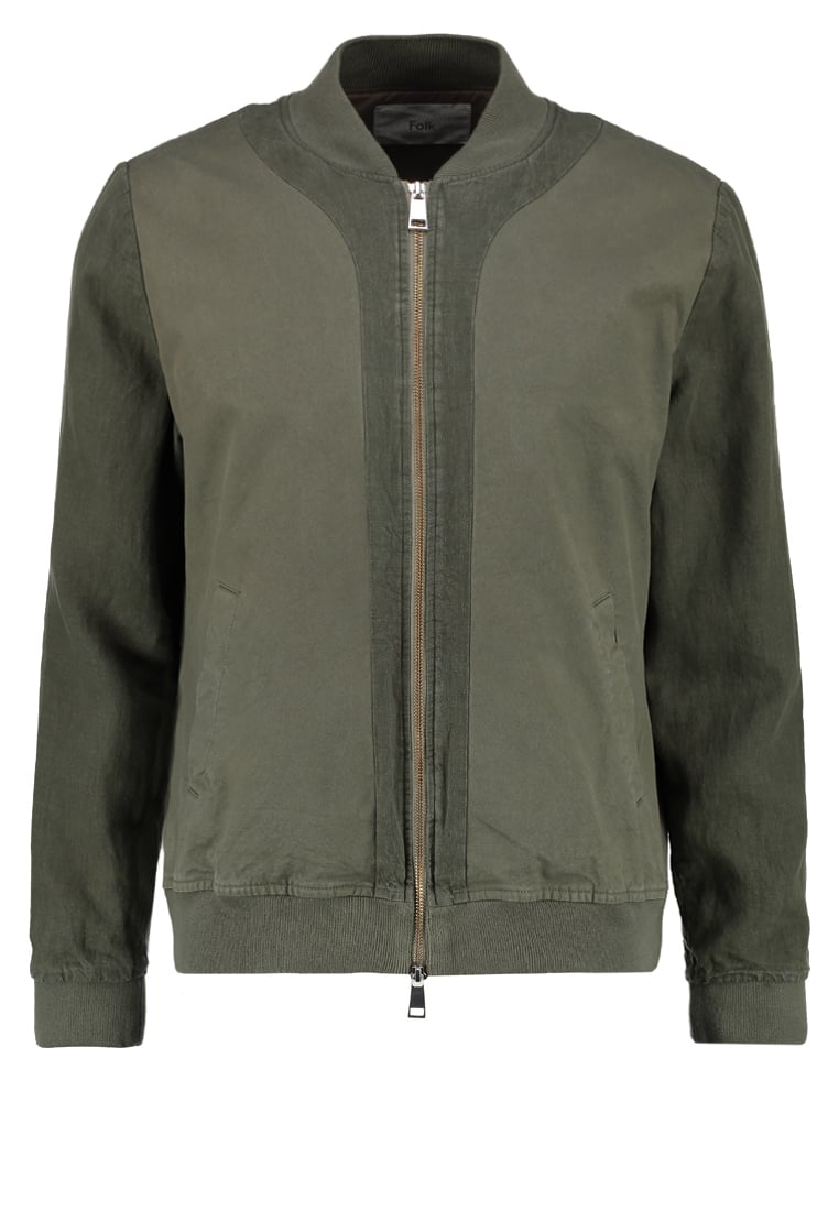 Folk SLOUCH Kurtka Bomber soft military green - F2934W