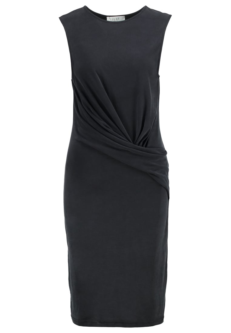 JUST FEMALE CAREY Sukienka z dżerseju black - Carey Drapy Dress