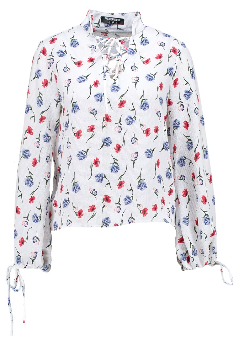 Fashion Union Petite BLOUSE WITH FRONT Bluzka white - FUML01506