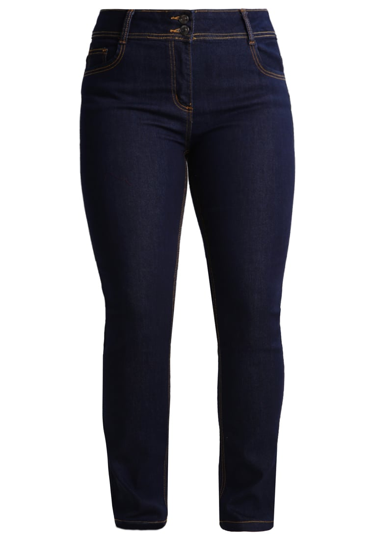 Anna Field Curvy Jeansy Straight Leg dark blue denim