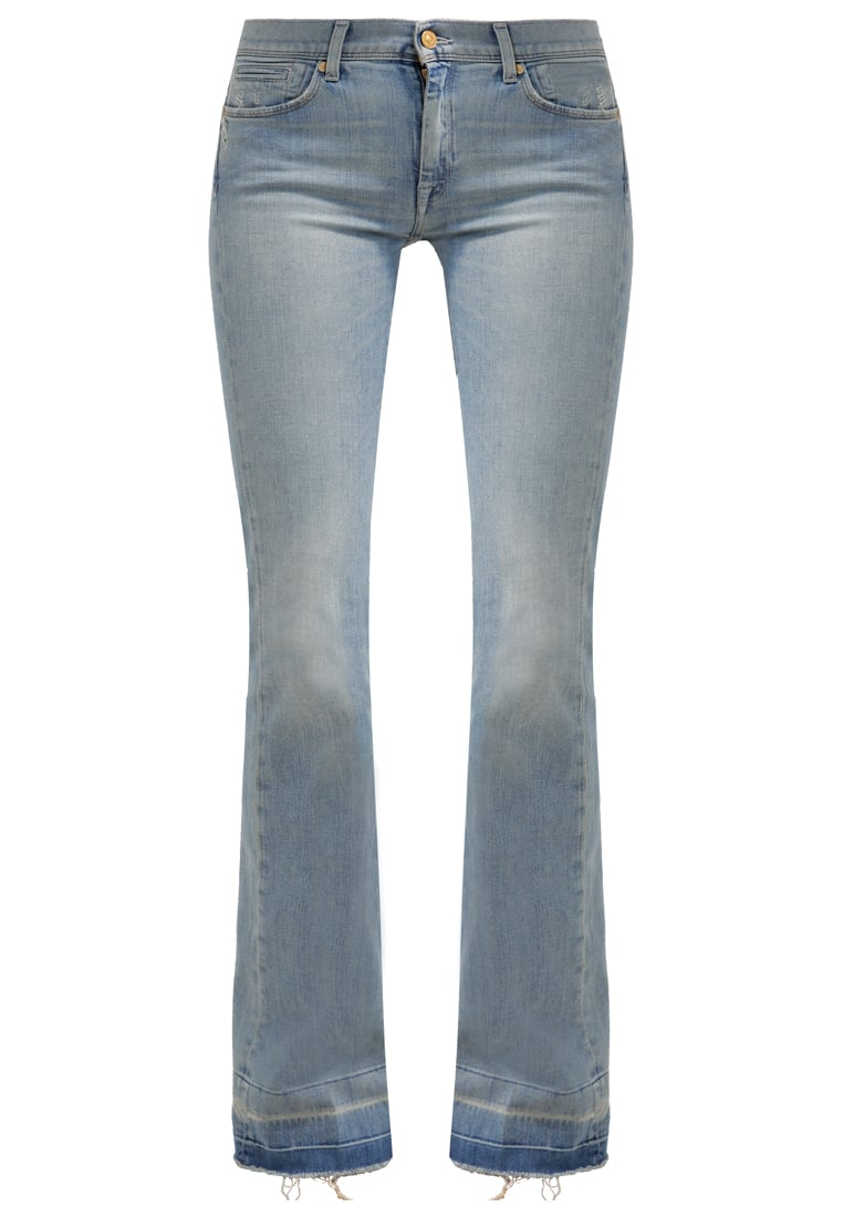 7 for all mankind CHARLIZE Jeansy Dzwony beyond retro bleach out