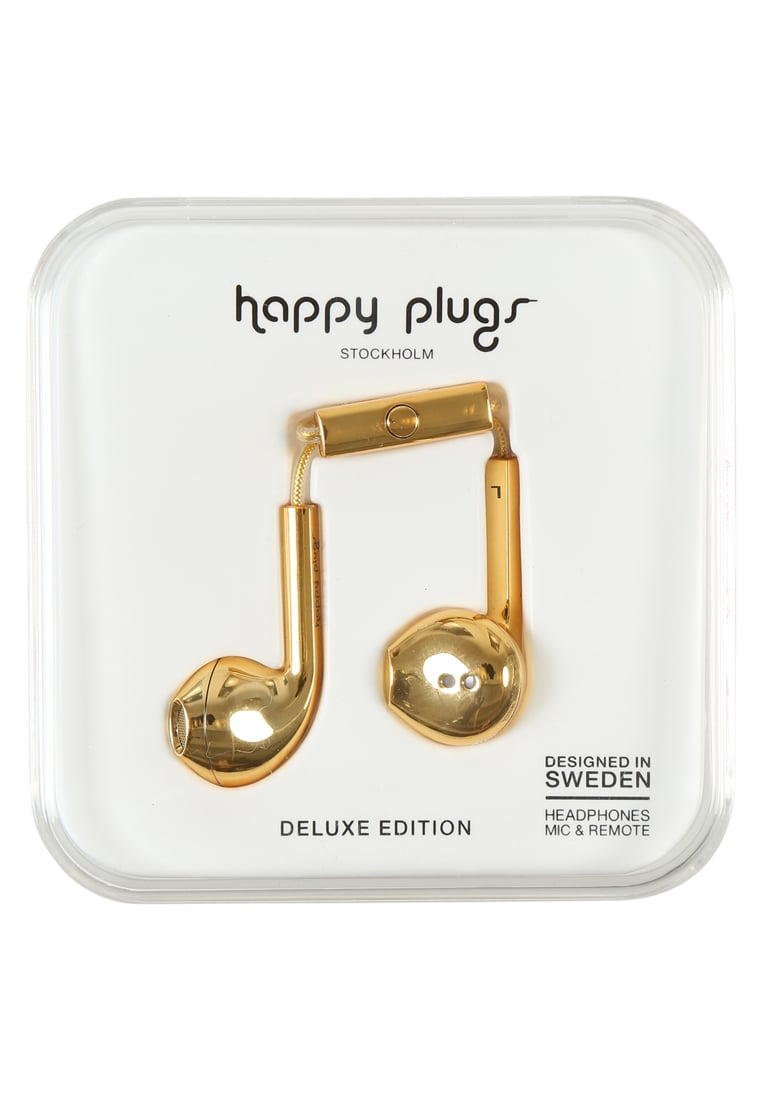 Happy Plugs PLUS DELUXE Słuchawki gold - Happy Plugs Earbud Plus Deluxe