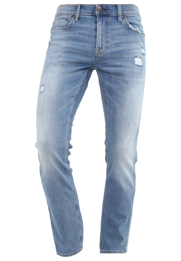 Hollister Co. Jeansy Slim fit destroyed denim - KI331-6032