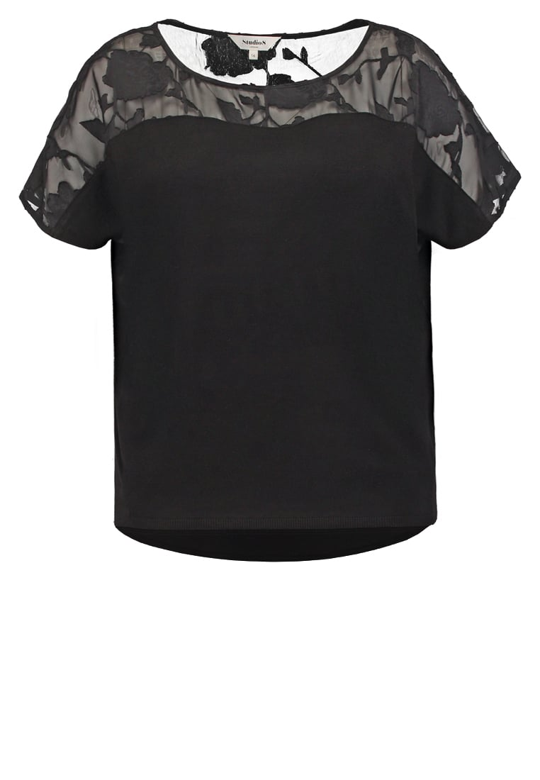 Studio 8 CALLY Tshirt z nadrukiem black - 430040050