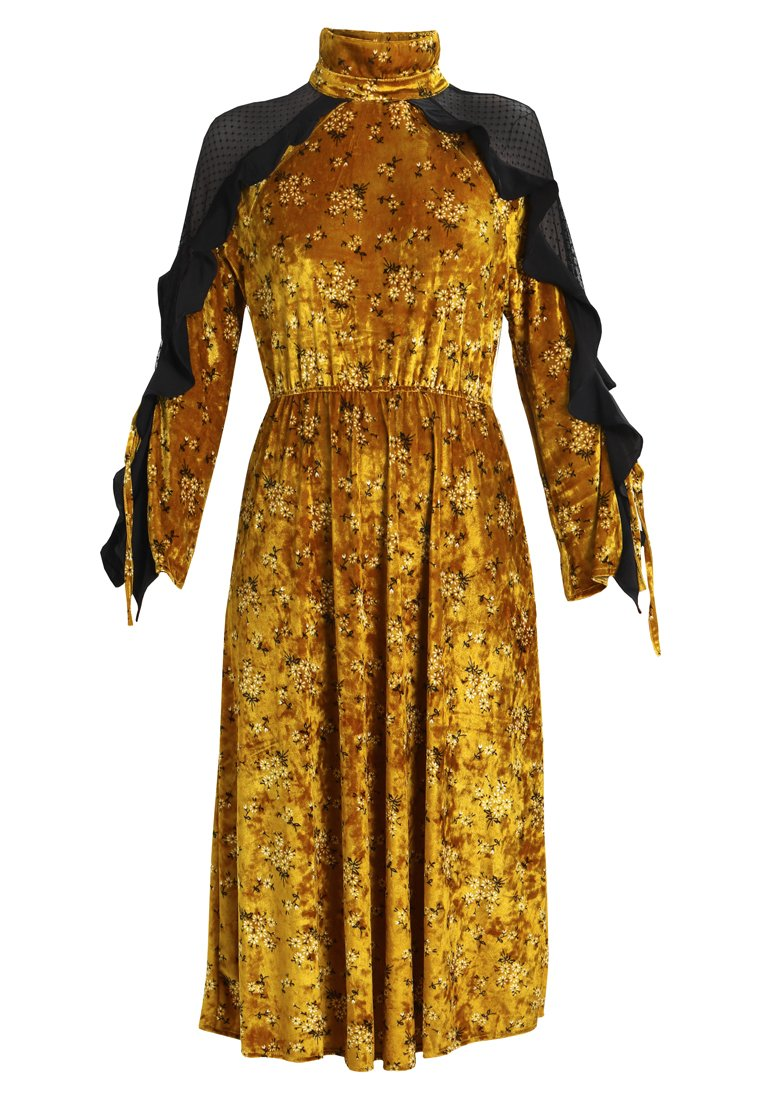 Sister Jane GOLD RUSH MIDI DRESS Długa sukienka yellow - DR866YLW