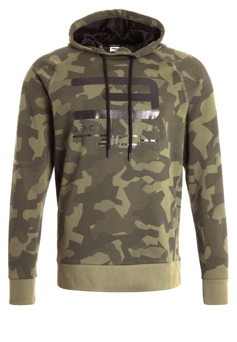 Jack & Jones Tech JJTACHIVE Bluza z kapturem olive - 12128727