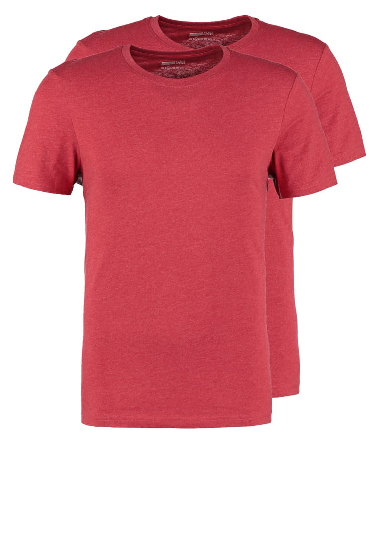 Pier One 2 PACK Tshirt basic red melange - PM-BAS0-0112