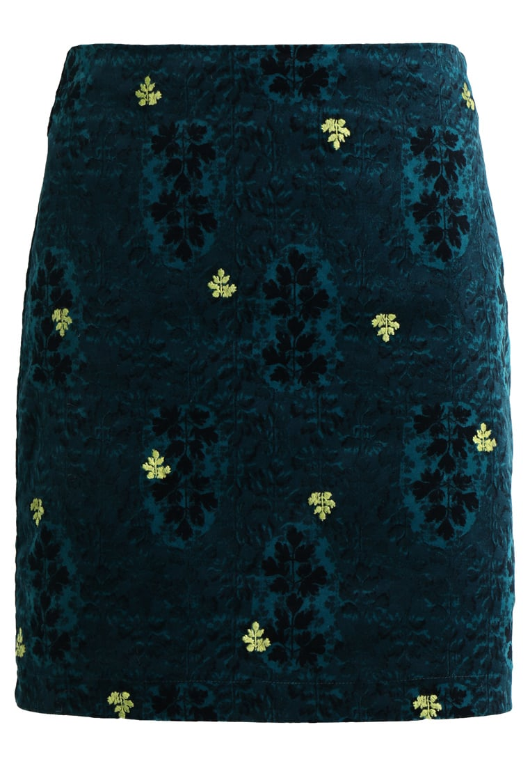 White Stuff FALLING LEAVES SKIRT Spódnica trapezowa sea green - 421159