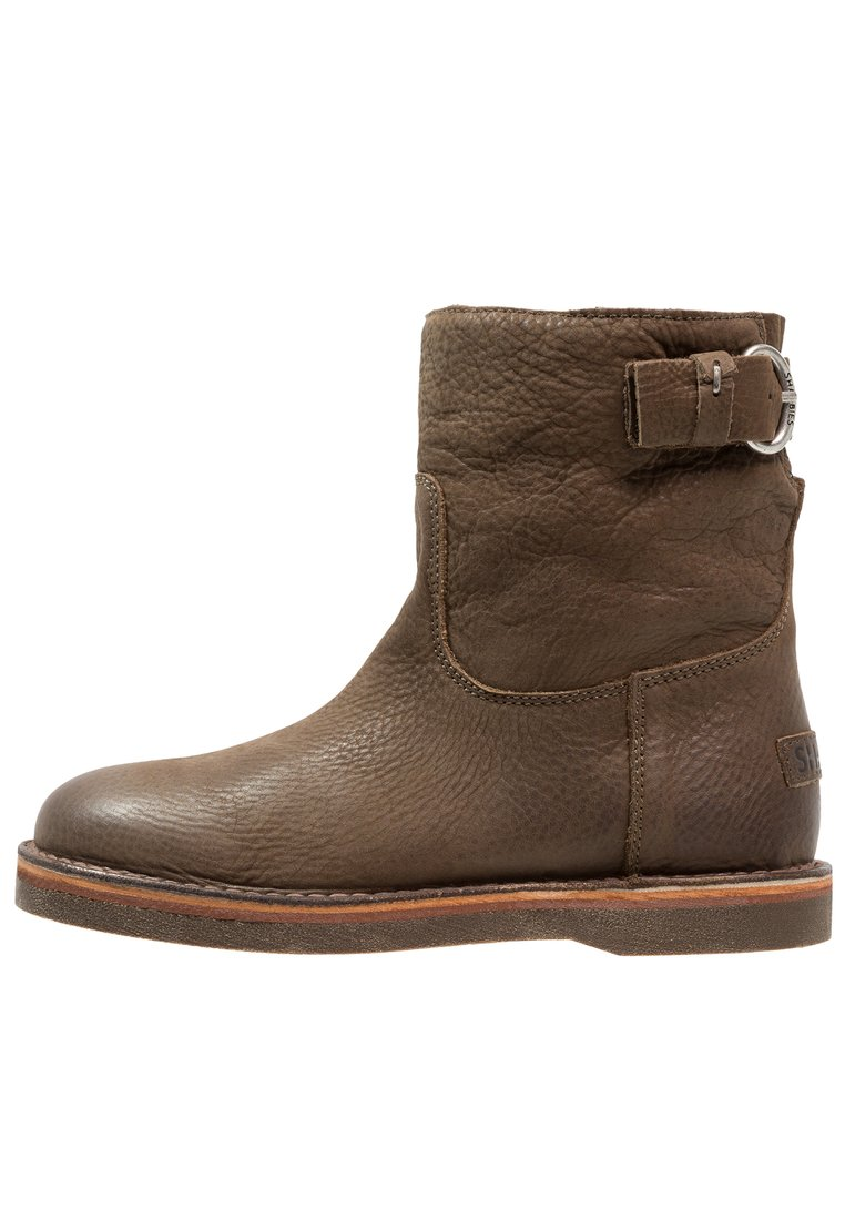 Shabbies Amsterdam Botki olive brown - 181020054