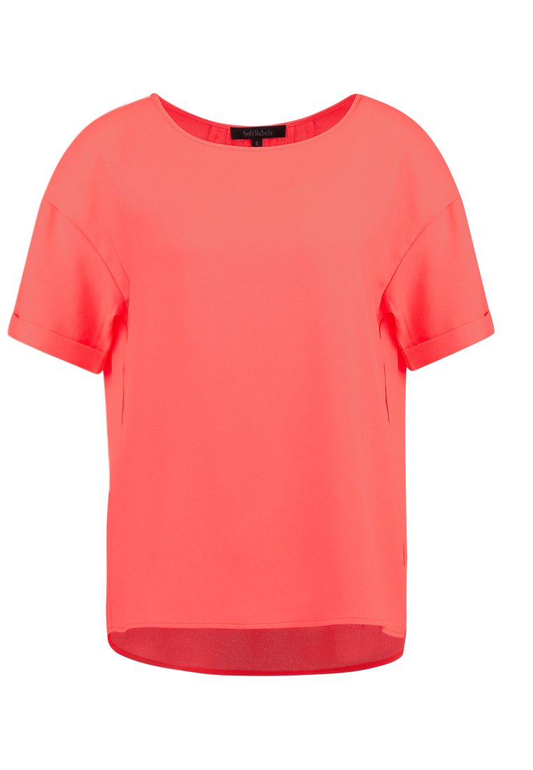 Soft Rebels BEAUTY BLOUSE Bluzka hot coral - SR218-745