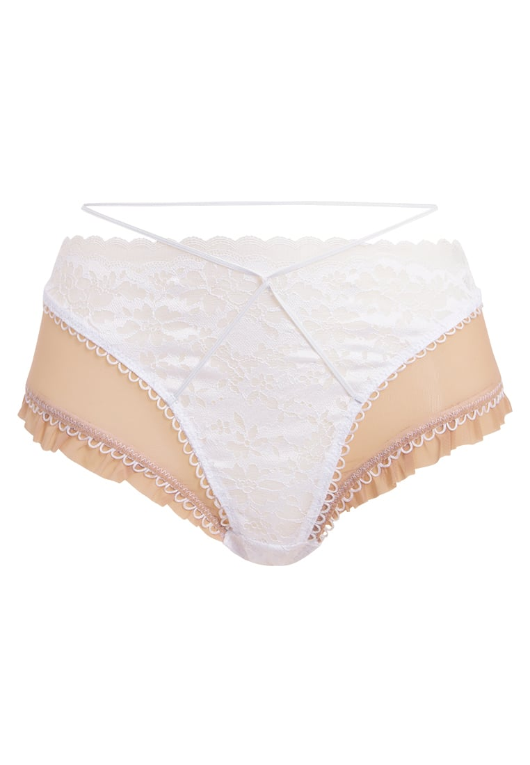 For Love & Lemons MOONSHADOW HIGH CUT THONG Stringi ivory