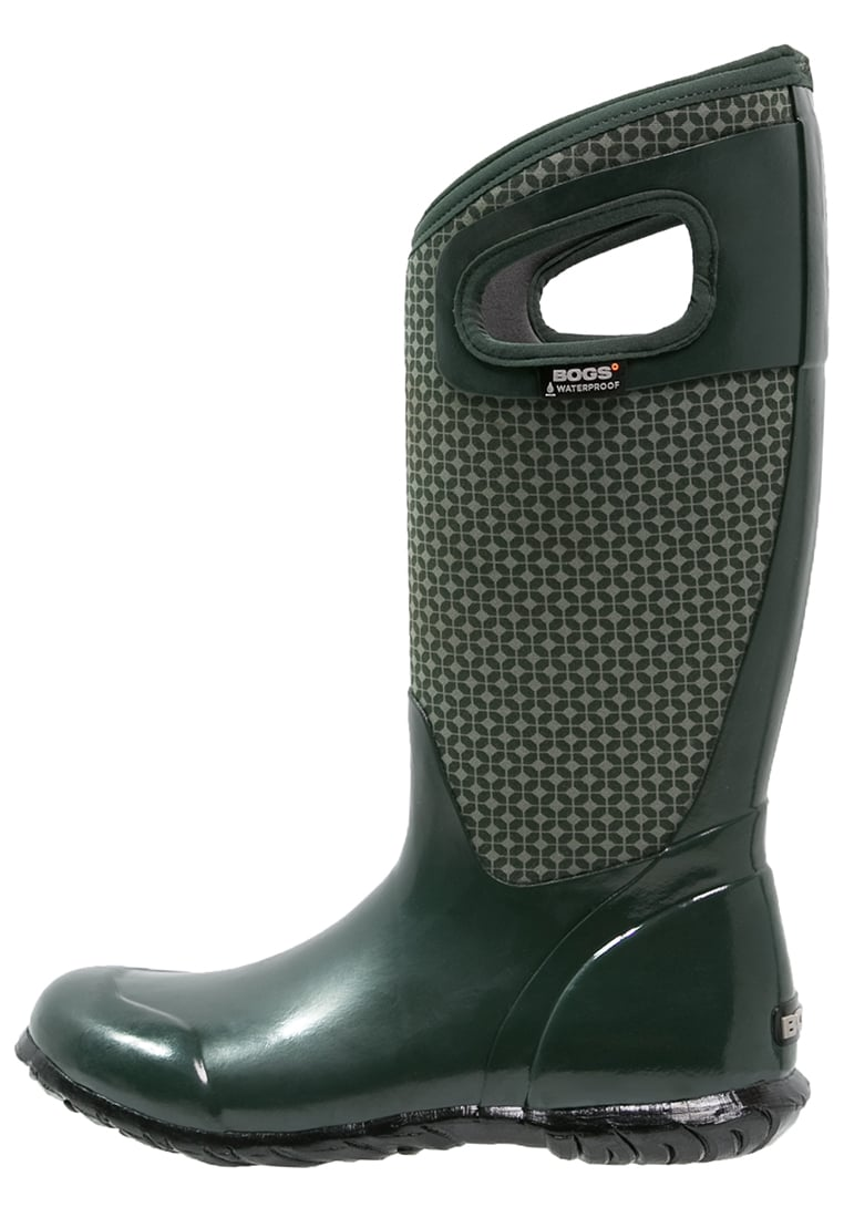 Bogs NORTH HAMPTON Kalosze dark green/multicolor - 72039