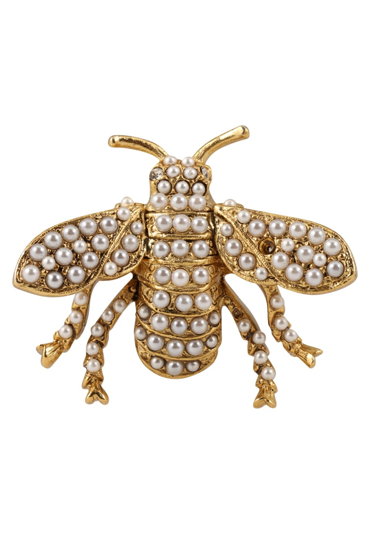 Kenneth Jay Lane PEARL BEE Pozostałe antique goldcoloured - 1007PAGP