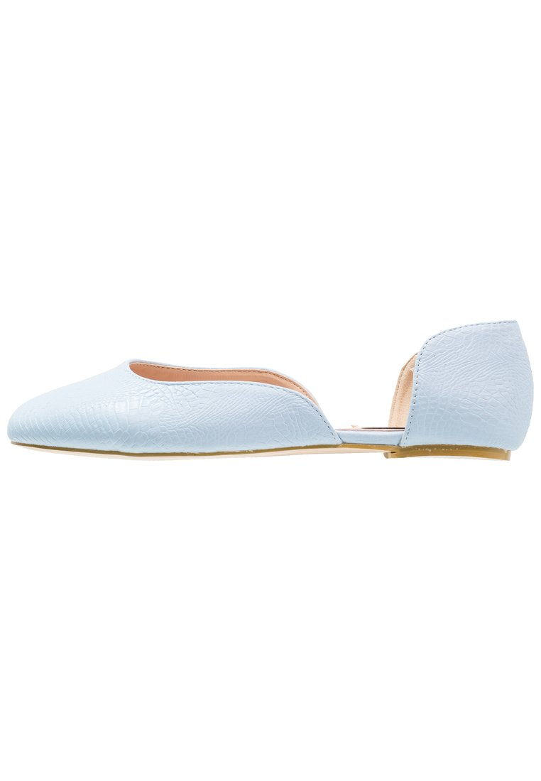 Lost Ink Wide Fit EVA D'ORSAY STYLE Baleriny light blue - 100411802001