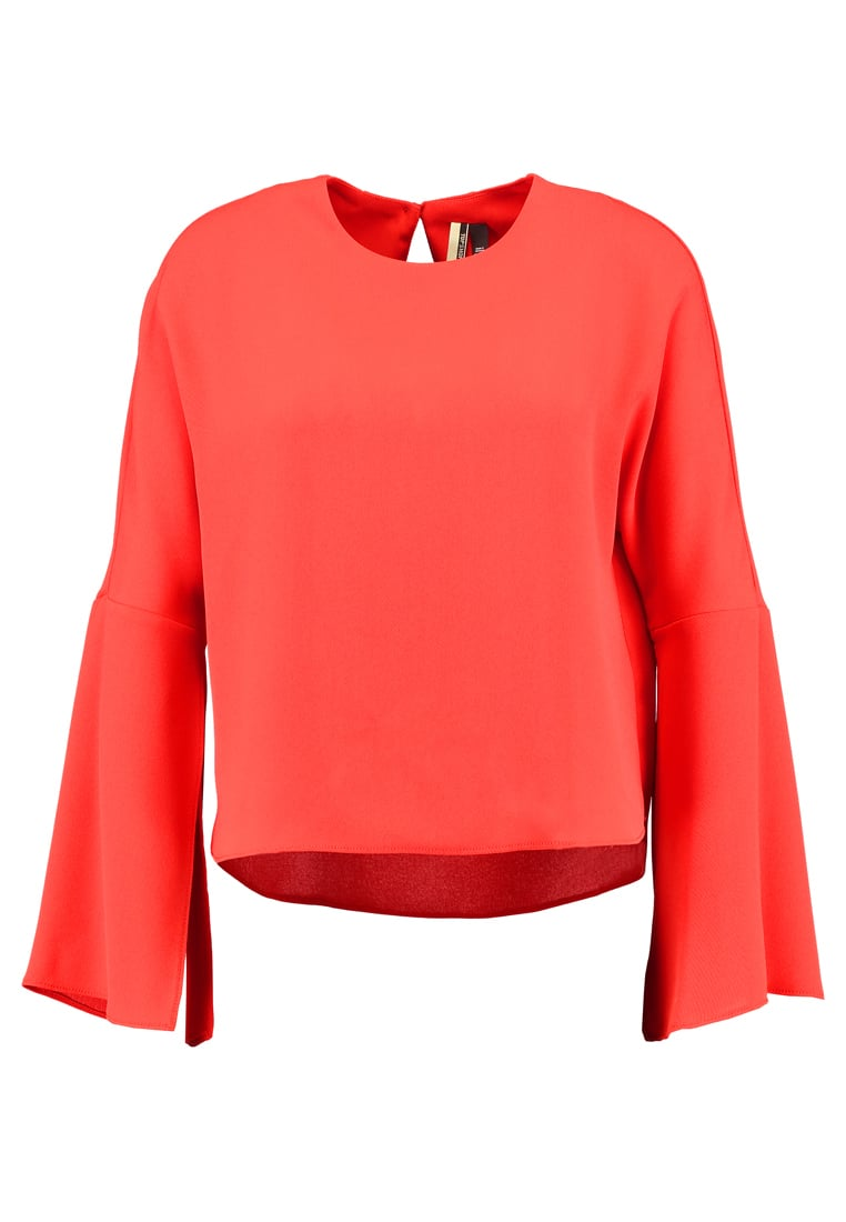 Topshop SPLIT SLEEVE   Bluzka red