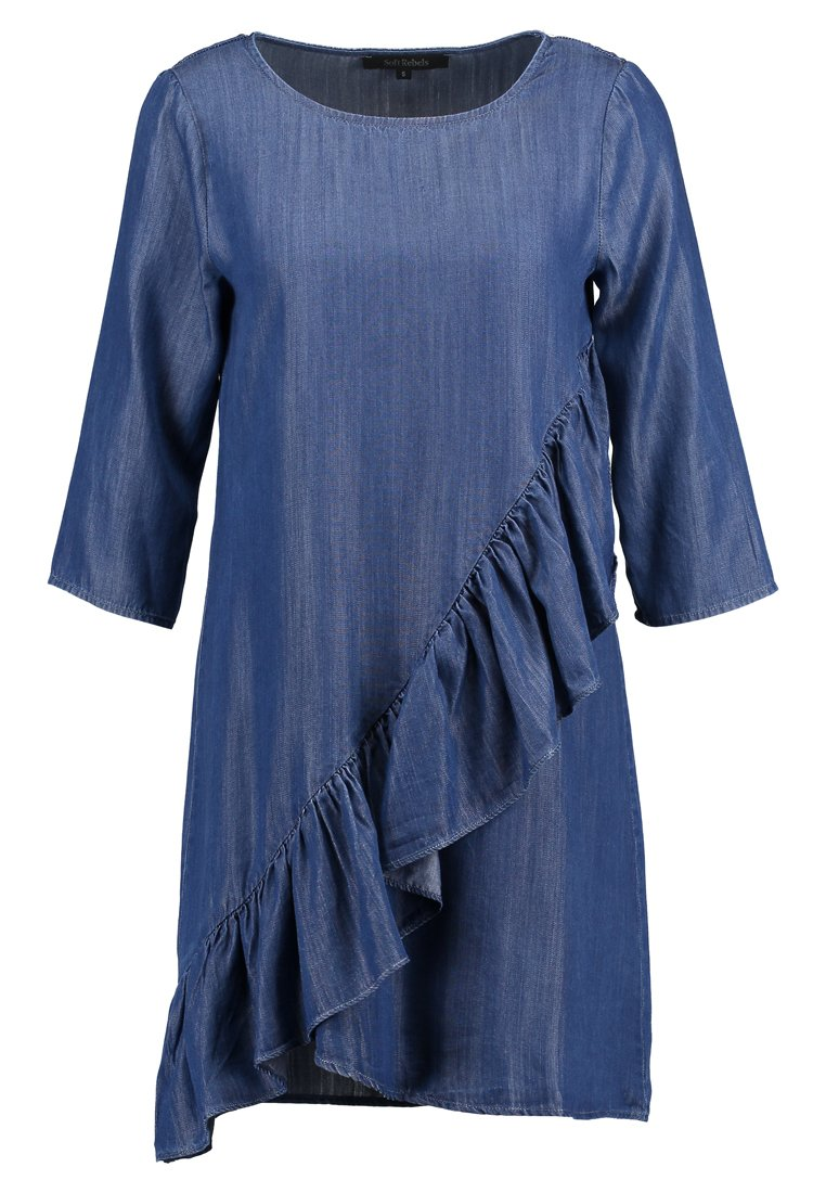 Soft Rebels CORE DRESS Sukienka jeansowa medium blue - SR218-725