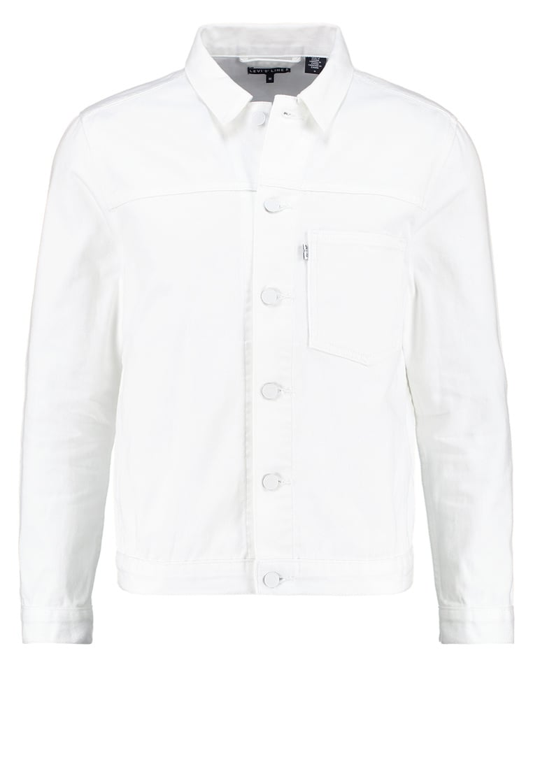 Levi's® Line 8 L8 EITHER OR TRUCKER Kurtka jeansowa bright white - 29934