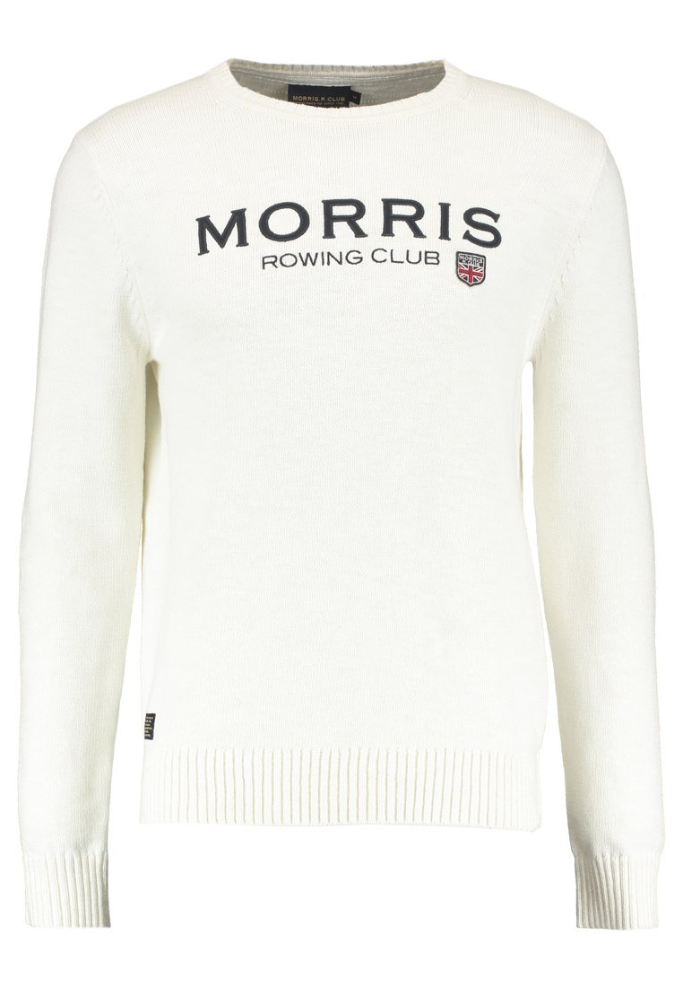 Morris GEORGE ONECK Sweter off white - 9007221